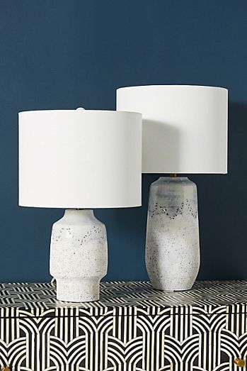 Danika Inlay Lamp Base Anthropologie In 2020 Unique Table Lamps Table Lamp Glass Table Lamp