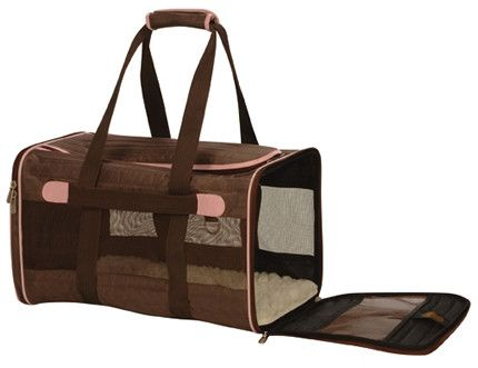 Sherpa 55038 Original Deluxe Pet Carrier Brown W Pink Trim Small Pet Carriers Sherpa Pet Carrier Cat Carrier