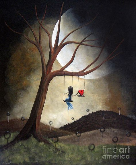 Surreal Painting - Time Together By Shawna Erback by Erback Art