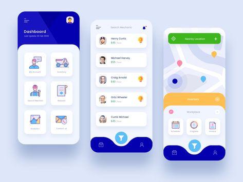 Equipment Mobile App Design