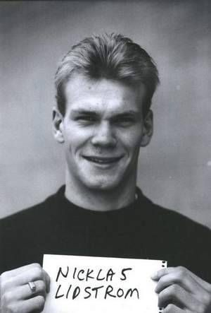 Nick Lidstrom Holding A Piece Of Paper With His Name Spelled Correctly For His First Season With The Wings It Detroit Red Wings Red Wings Sports Personality