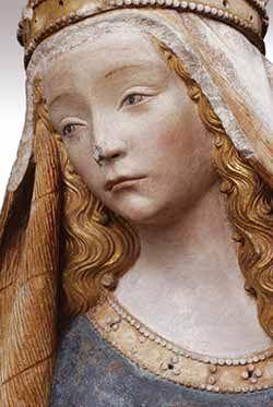 Polychromies Secrètes. Restored polychromy. Our Lady of Grace (Notre Dame de Grasse), c. 1470. Languedoc, c. 1470. 112 x 75 x 38 cm (44 1/8 x 29 1/2 x 14 15/16 in.). Musée des Augustins, Toulouse, RA 788.
