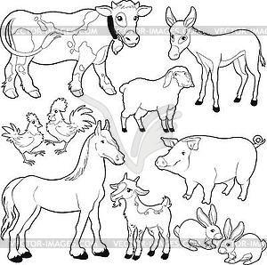 Farm Animals Vector Clipart Farm Animal Paintings Farm Animals Pictures Farm Animals