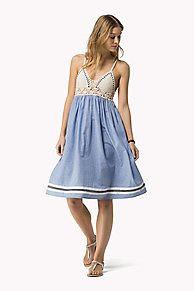 gehaakte chambray jurk ist der Höhepunkt der Saison: aus der neuesten Tommy Hilfiger Kleider Kollektion für Damen. Kostenlose Lieferung & Retouren.