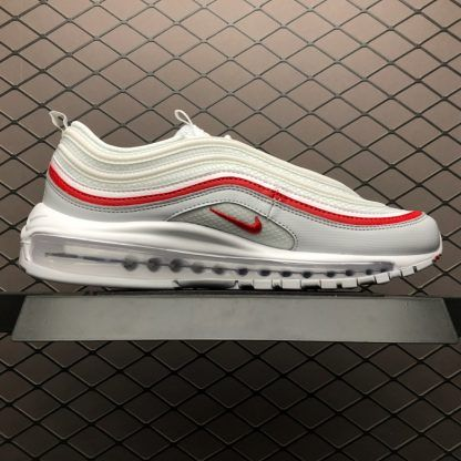 pre order online shop designer fashion Nike Air Max 97 Pure Platinum/University Red AR5531-002 ...