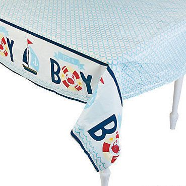 Natucial Baby Boy Shower Decorations; Natucial Tablecloth; Under The Sea  Theme Shower; Ahoy