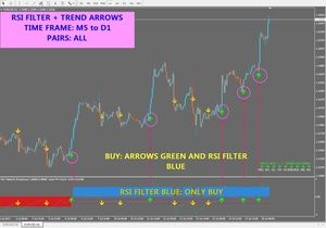 R073 Rsi Filter Trend Arrows System Indicator Metatrader 4