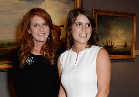 LONDON, ENGLAND - JUNE 10: Sarah Ferguson (L), Duchess of York, and Princess Eugenie of York attend the Art Antiques London Gala Evening in aid of Children In Crisis at Kensington Gardens on June 10, 2014 in London, England. (Photo by David M. Benett/Getty Images)