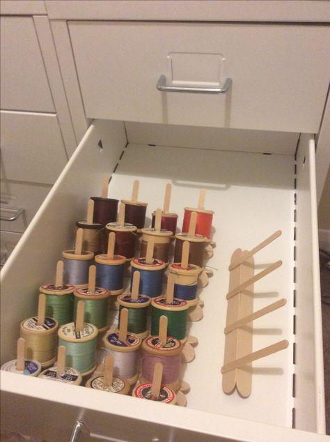 Sewing Room Organization Ikea Thread Storage 51+ Ideas -  Sewing Room Organization Ikea Thread Storage 51+ Ideas  - #ideas #IKEA #Knitting #KnittingAndCrocheting #KnittingPatterns #organization #Room #sewing #SewingRooms #storage #thread