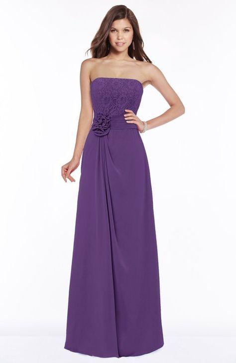 82f6e1b1996e Gorgeous A-line Sleeveless Chiffon Floor Length Flower Bridesmaid Dresses