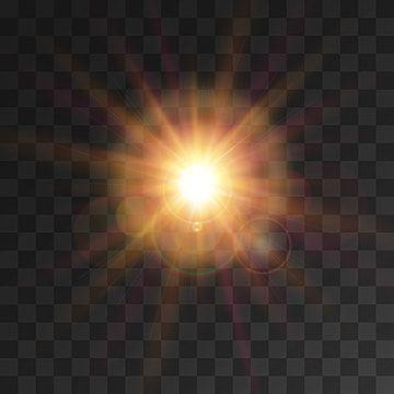 Efeitos De Luz Do Raio De Sol Com Luz Amarela Brilhando Em Fundo Transparente Holofotes Clipart Icones Do Sol Icones Transparentes Imagem Png E Vetor Para Do Light Background Images Transparent