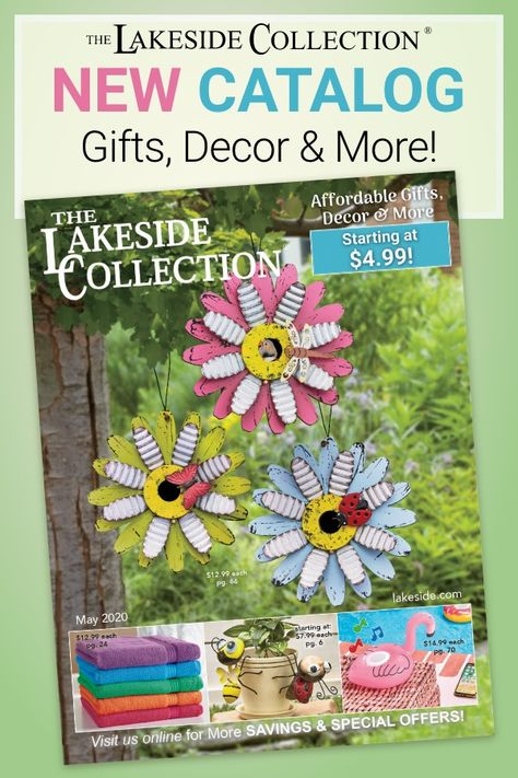 It's time to wake up and smell the May flowers! Our newest catalog has arrived, and we are so proud to share it with you! Get inspired for summer with ideas to revamp your home decor, outdoor spaces and even your wardrobe! There are so many values that will brighten your interiors and your garden...and you! We have what you need for summer...at the prices you love!