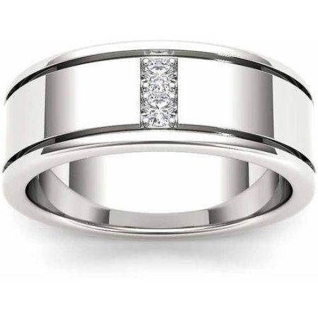 Imperial Diamond 1 2 Carat T W Diamond Men S 14kt White Gold Wedding Band Walmart Com Mens Wedding Rings Vintage White Gold Wedding Bands Mens Wedding Rings