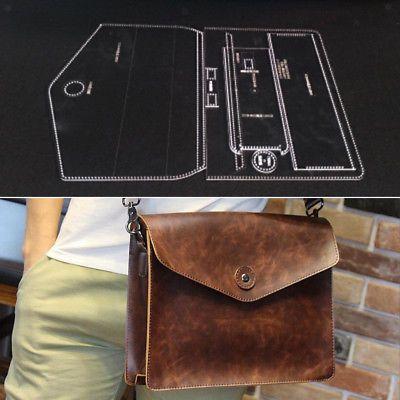 6Pcs Leather Acrylic Crossbody Bag handbag Pattern Stencil Template Tool set