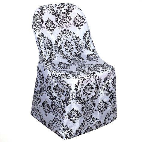 Black White Velvet Flocking Taffeta Chair Covers Folding Chair Covers Chair Covers Wedding Chair Covers