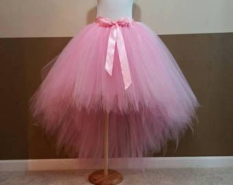 Hi Lo Tutu Skirt Fairy Tutu Fully Lined Pale Pink Pink