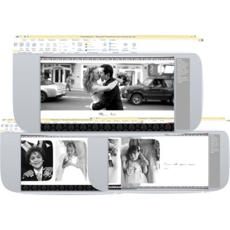Free Wedding Album Template For Powerpoint  Wedding Photos