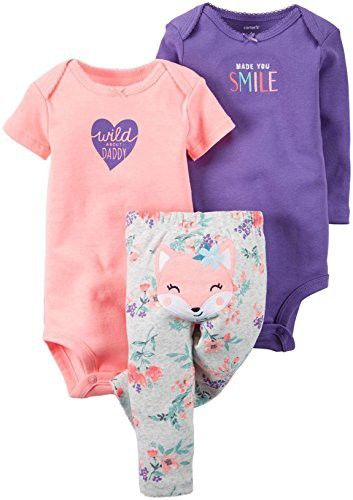 NWT Baby Girls/' 3-Piece Bodysuit Leggings /& Hat Set Size Newborn 3-6-9-12 Month