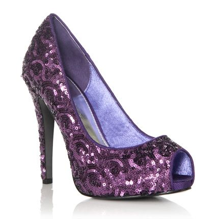 Purple sequin shoes...perfect for a holiday party!