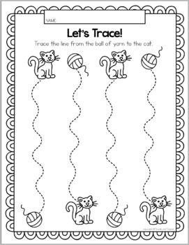 Preschool Tracing Pets Animals Distance Learning Learn At Home Learning Trace Preschool Tracing Writing Activities For Preschoolers Fun Writing Activities Preschool tracing and cutting worksheets