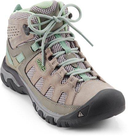 944c7beb318 KEEN Women's Targhee Vent Mid Hiking Boots Fumo/Quiet Green 11 in ...