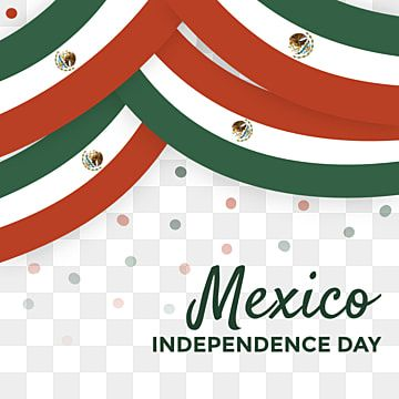Wavy Mexico National Flag Decoration Illustration With Confetti To Celebrate Mexico Independence Day Can Be Used For Banner Greeting Card Invitation Promotion Print Design Template National Flag Independence Day