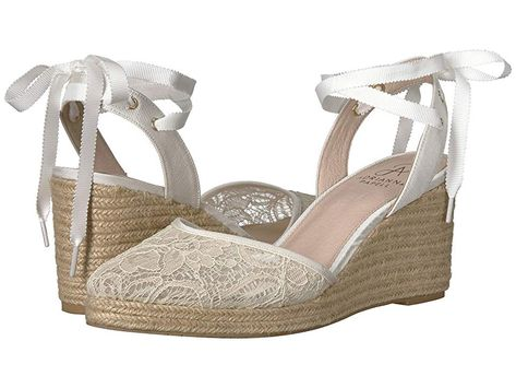 444a08116a2 Adrianna Papell Pamela (Ivory 1890 Lace) Women s Wedge Shoes. Put a  feminine spin into your footwear collection with Adrianna Papell Pamela  wedge.