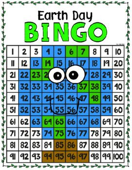 Earth Day Bingo 100s Chart Mystery Picture Chart Mystery Pictures Day