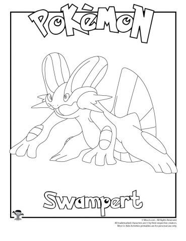 Swampert Coloring Page Woo Jr Kids Activities Pokemon Coloring Sheets Coloring Pages Pokemon Coloring Pages