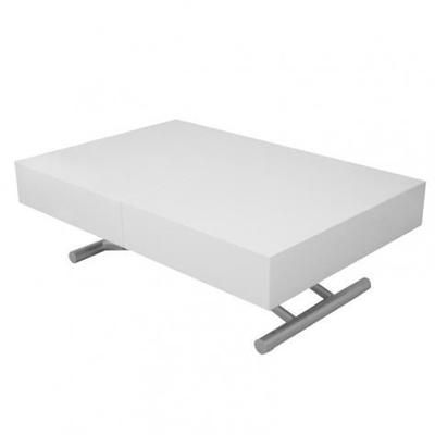 Table Basse Relevable Extensible Blanc Laquee Smart Xxl Table Basse Relevable Extensible Table Basse Relevable Et Table Basse Extensible