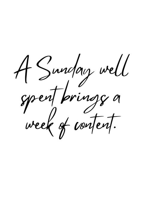 A Sunday well spent brings a week of content. What are you doing today? #quote #quoteoftheday #dailyquote #inspirationalquote #positivequote #motivationalquote #sundayquote