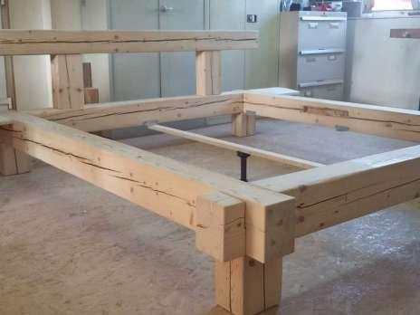 Balken Bett Aus Altholz Rustikal 180x200 20762348 Altholz Rustikal Rustikal Altholz