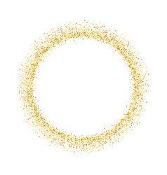 Gold Circle Glitter Frame Golden Confetti Dots Vector Gold Circle Frames Glitter Frame Gold Foil Background