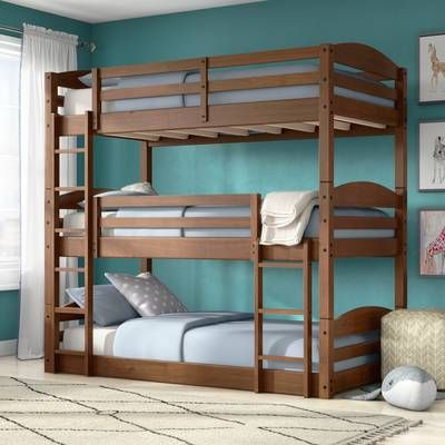 Alemany Twin Over Twin Triple Bed Bunk Bed Designs Triple Bed Twin Bunk Beds