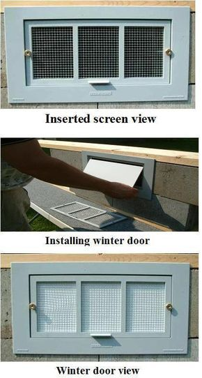 Energy Efficient Crawl Space Foundation Vent Covers. I wonder if this would work for mobile home skirting, which definitely needs to be ventilated in the summer and sealed in the winter.