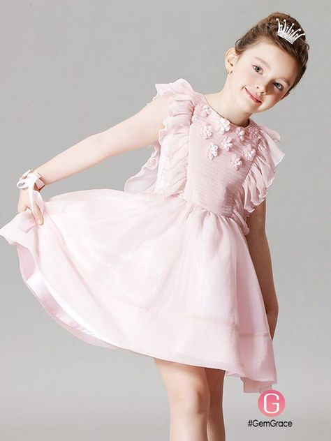 3ca0721115416 Only $78.99, Flower Girl Dresses Cute Pink Pleated Flower Girl Dress in  Short Length #EFQ02 at GemGrace. View more special Flower Girl Dresses now?