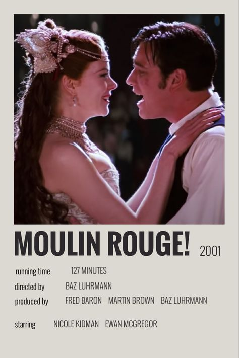 moulin rouge polaroid poster