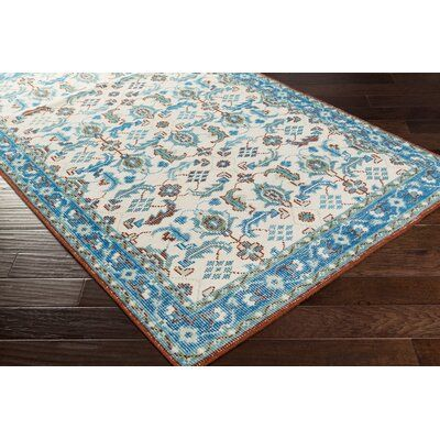 Bungalow Rose Heerhugowaard Hand Knotted Blue Foam Area Rug Rug Size Rectangle 5 6 X 8 6 In 2020 Area Rugs Classic Rugs Rugs