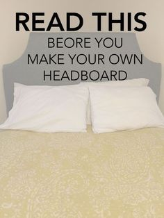 DIY Upholstered Headboard with a High End Look Diy upholstered