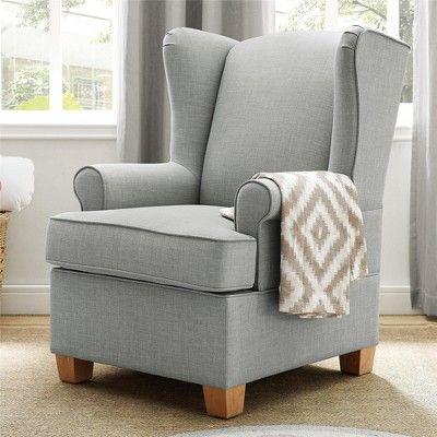 Baby Relax Brennan Wingback Convertible Rocker Beige Rocking Chair Chair Relax