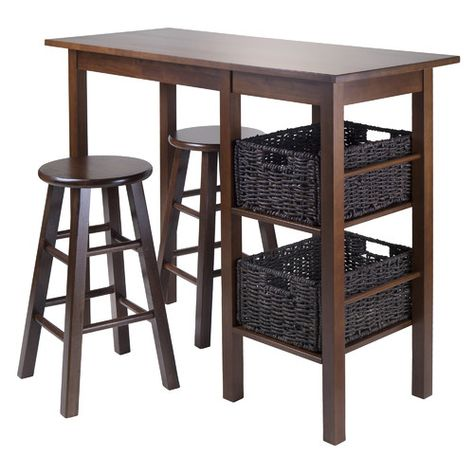 Found it at Wayfair - Egan 5 Piece Pub Table Set 36H x 44.9W x 19.7D Stools 24H