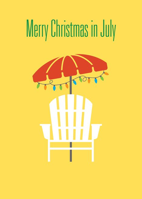 Christmas In July Beach Chair Umbrella Card Ad Sponsored Beach July Christmas Umbrella Cards Christmas In July Beach Chair Umbrella