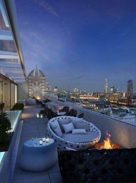 Radio Tower Rooftop bar, London ...♥♥...  Well Living Hotels, Luxury Lifestyle, Luxury Hotels. Find Out More: http://luxurysafes.me/blog/