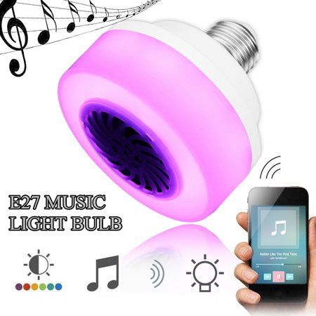 4 0 Led Music Bulb E27 5w Wireless Led Rgb Color Music Speaker Light Bulb Smart Phone Control At Mosphere Light For Wireless Speakers Bluetooth Bulb Light Bulb
