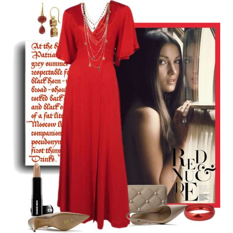"""""""Red and Nude"""" by victoria1961notags on Polyvore"""