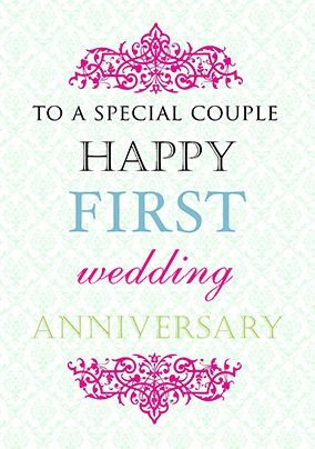 First Wedding Anniversary Card Truly Madly Deeply In 2020 First Wedding Anniversary Quotes Happy Wedding Anniversary Cards Happy First Wedding Anniversary