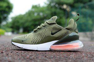 pretty nice adb6c d722a Mens Nike Air Max 270 Olive Green White Sneakers | Nike Air ...