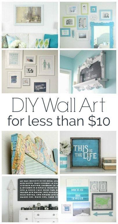 Cheap Wall Art 7 Ideas That Cost Less Than 10 Cheap Wall Decor