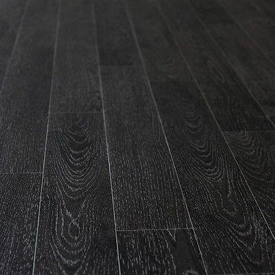 Black Wood Planks Non Slip Vinyl Flooring Kitchen Bathroom Cheap