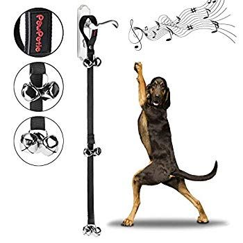 Dog Bells For Potty Training Powpetie Dog Bell Training Your Puppy The Easy Way 5 Extra Large Loud 1 4 Bell In 2020 Dog Bell Dog Bell Training Training Your Puppy